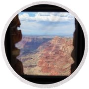 Desert Watchtower View Grand Canyon  Round Beach Towel