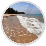 Deserted Shore Of The Island Of Tioman Round Beach Towel