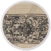 Design For A Binding For Charivaria, Carel Adolph Lion Cachet, 1874 - 1945 Round Beach Towel