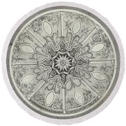 Design For An Inlaid Circular Table Top, With Alternatives Round Beach Towel