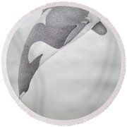 Desintigrating Orca Round Beach Towel