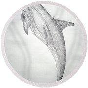Desintigrating Porpoise Round Beach Towel
