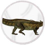 Desmatosuchus Profile Round Beach Towel