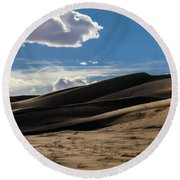 Desolate Round Beach Towel