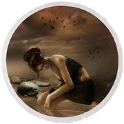 Desolation Round Beach Towel by Mary Hood