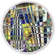 Desperate Reflections Round Beach Towel