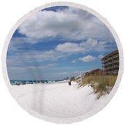 Destin Beach Round Beach Towel
