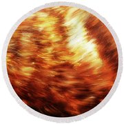Detail Of Animal Fur Structure, Hand Painted And Graphic Background. Round Beach Towel