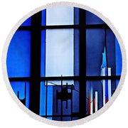 Detail Of Modern Johannes Schreiter Window Mainz 2 Round Beach Towel