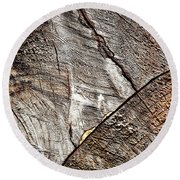 Detail Of Old Wood Sawn Round Beach Towel