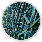 Detail View Of The Kinsol Trestle Round Beach Towel