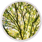Detailed Tree Branches 1 Round Beach Towel