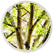 Detailed Tree Branches 2 Round Beach Towel