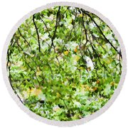 Detailed Tree Branches 4 Round Beach Towel