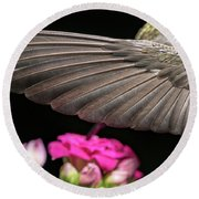 Details Of The Hummingbird Wing Round Beach Towel