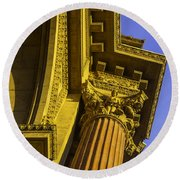 Details Palace Of Fine Arts Round Beach Towel