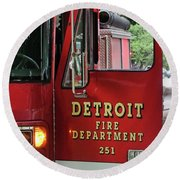 Detroit Fire Department Round Beach Towel