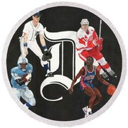Legends Of The D Round Beach Towel