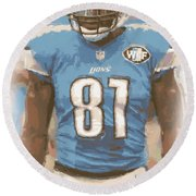 Detroit Lions Calvin Johnson 1 Round Beach Towel