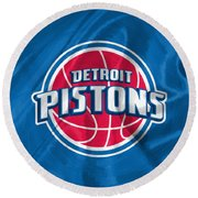 Detroit Pistons Round Beach Towel