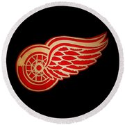 Detroit Red Wings - Scrolled Round Beach Towel