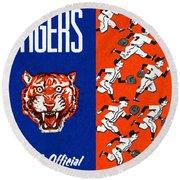 Detroit Tigers 1962 Yearbook Round Beach Towel