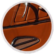 Deucenberg Hot Rod Interior Door Round Beach Towel