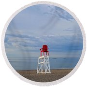 Devereux Beach Lifeguard Chair Info Board Marblehead Ma Round Beach Towel