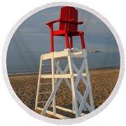 Devereux Beach Lifeguard Chair Marblehead Ma Round Beach Towel