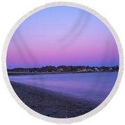 Devereaux Beach Marblehead Ma At Dusk Round Beach Towel