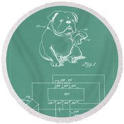 Device For Protecting Animal Ears Patent Drawing 1d Round Beach Towel