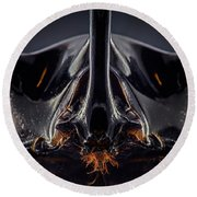 Devil Horn Focus Stack Round Beach Towel