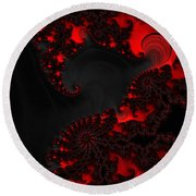 Devil Light   A Fractal Abstract Round Beach Towel