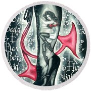 Devilicious Boot Round Beach Towel