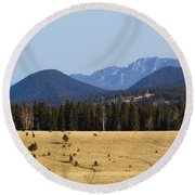 Devil's Head Fire Tower In The Pike National Forest Round Beach Towel