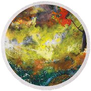 Divinely Inspired Round Beach Towel