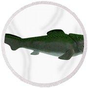 Devonian Dunkleosteus Fish Round Beach Towel