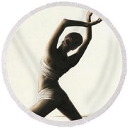 Devotion To Dance Round Beach Towel
