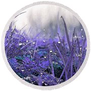 Dew Drops Magic Two Round Beach Towel