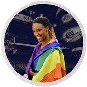 Dewanna Bonner Lgbt Pride 5 Round Beach Towel