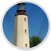 Dewey Beach Lighthouse Round Beach Towel