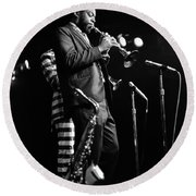 Dewey Redman On Musette Round Beach Towel