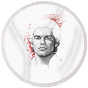 Dexter Morgan Round Beach Towel
