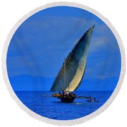 Dhow On The Indian Ocean 2 Round Beach Towel