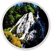Diamond Creek Falls Round Beach Towel