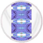 Diamonds Lilac Round Beach Towel