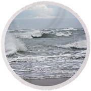 Diamond Shoals - Outer Banks Nc Round Beach Towel