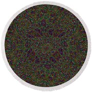 Diamond Tile Insanity Round Beach Towel