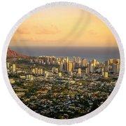 Diamondhead -- Jewel Of Oahu Round Beach Towel