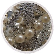 Diamonds And Pearls 2 Round Beach Towel